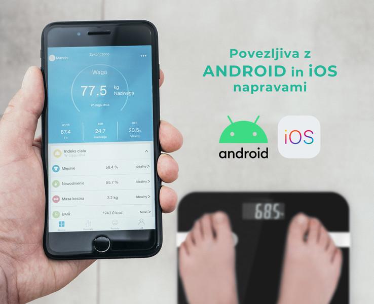 Bluetooth in aplikacija za sledenje vašemu zdravju