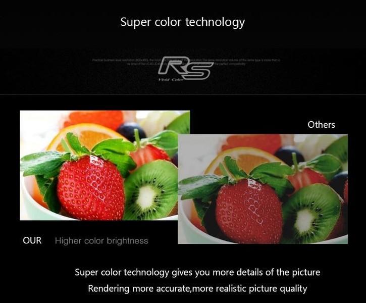 Več detajlov in bolj kvalitetna, realistična kvaliteta slike - Super RS Color Technology