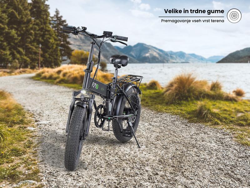 Robustno a privlačno zložljivo električno kolo