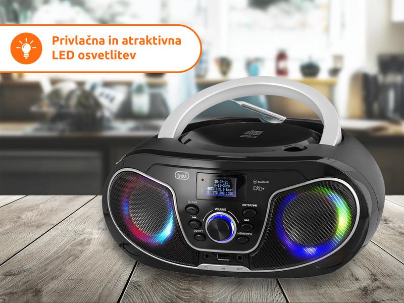 Disco LED lučke, daljinski upravljalnik in delovanje na baterije