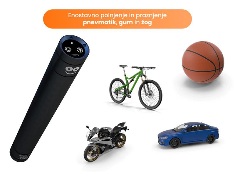 Prenosni zračni kompresor za avto, motor, kolo ali žogo