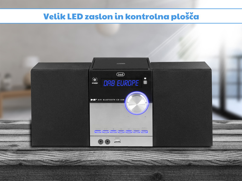 Hi-Fi stereo sistem z veliko možnosti povezovanja
