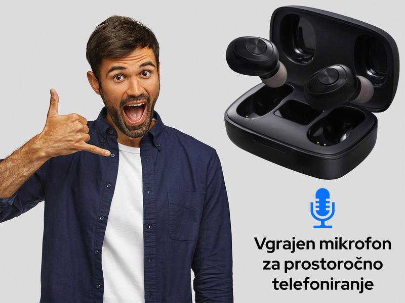 Mini Hi-Fi slušalke z Bluetooth 5.0 brezžično povezavo