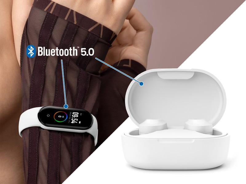 Komplet KEPLER – brezžične slušalke in pametna športna zapestnica