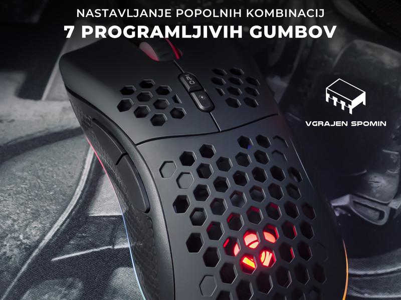 Gaming miška z vrhunskim senzorjem in ločljivostjo 8000 DPI