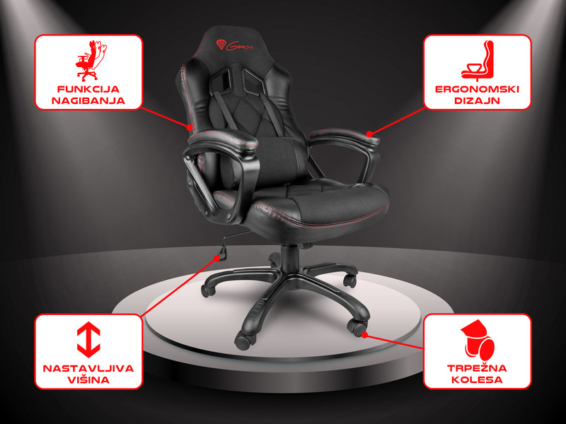 Udoben in funkcionalen gaming stol