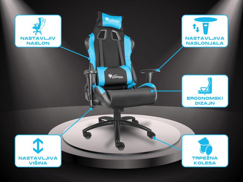 Izjemno udoben stol z ergonomskimi naslonjali