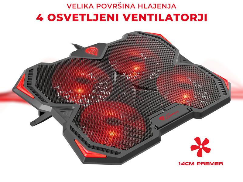 Učinkovito hlajenje s 4-imi ventilatorji