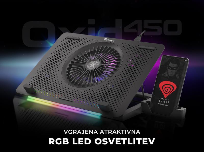 5 ventilatorjev in RGB LED osvetlitev