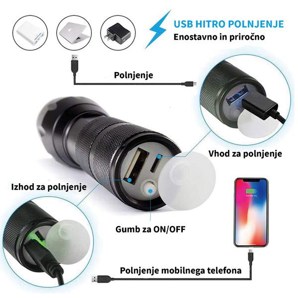 LED svetilka s funkcijo Powerbanka