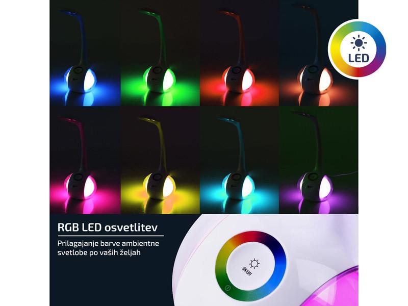 Polnilna baterija in barvna RGB osvetlitev