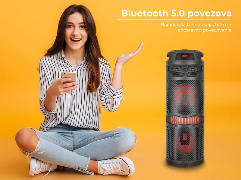 Bluetooth 5.0, USB, AUX vhod in FM Radio