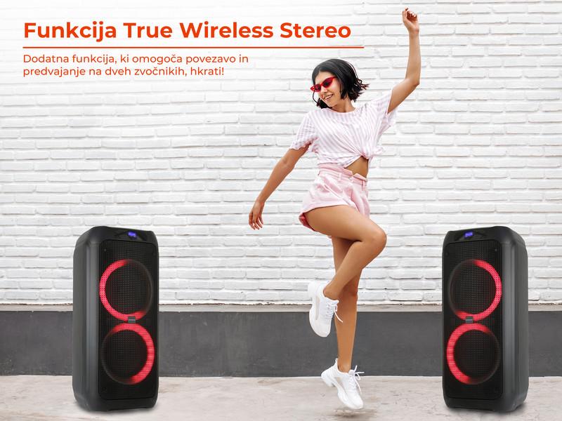 Kaj še odlikuje karaoke zvočnik MANTA SPK5310 PRO?