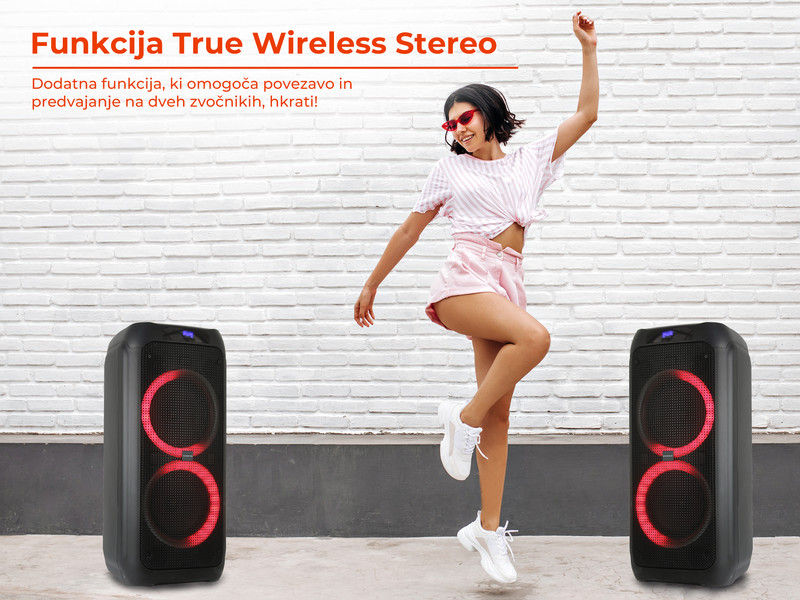 Kaj še odlikuje karaoke zvočnik MANTA SPK5310?