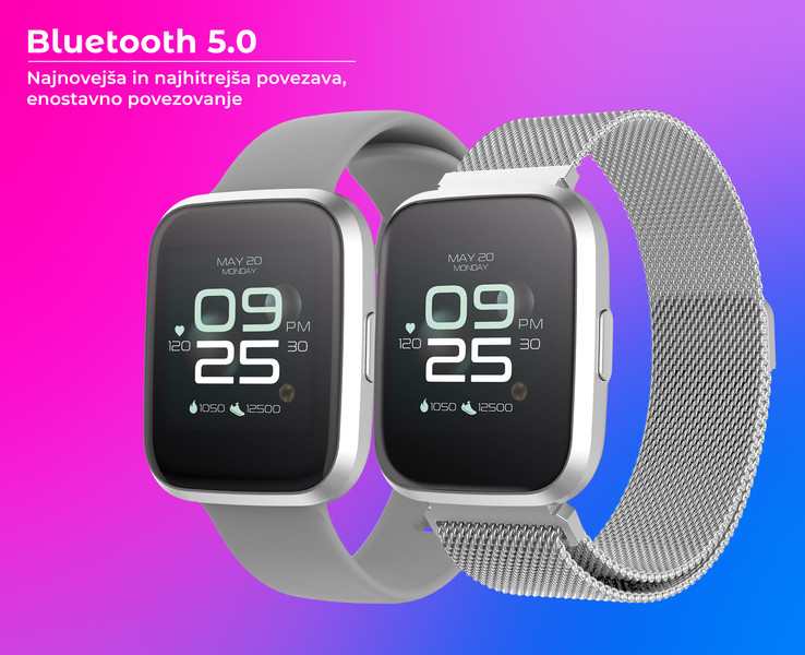 Bluetooth 5.0 povezljivost in veliko uporabnih funkcij