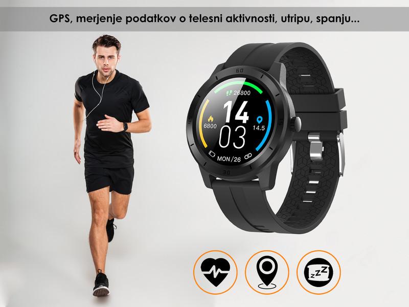 Moderna športna pametna ura z GPS sprejemnikom