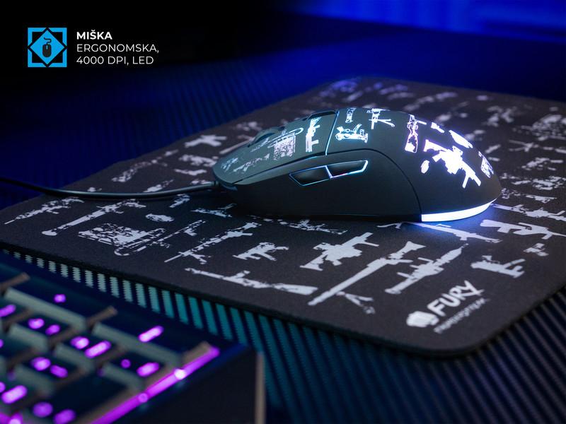 Programljiva miška z LED osvetlitvijo