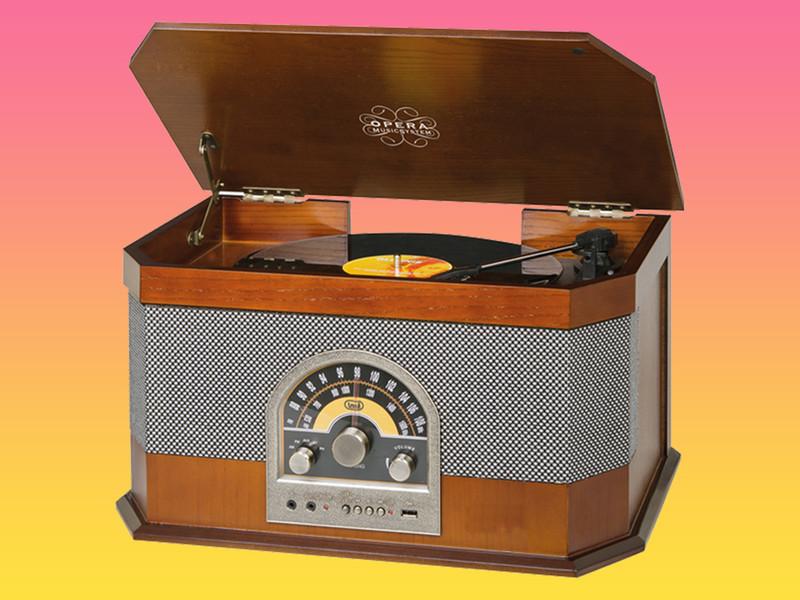 Praktičen in priročen retro gramofon