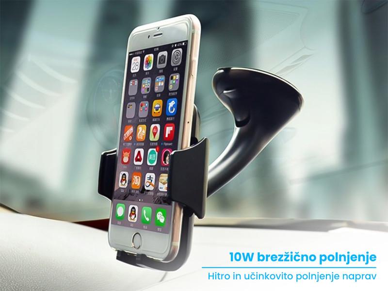 Nosilec in 10W brezžični polnilec za telefon