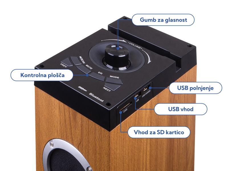 Kaj še odlikuje Samostoječi Hi-Fi zvočnik Trevi XT 10A8?